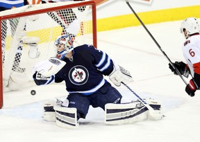 The Senators ended the Jets' home-ice point streak on Wednesday. (BRUCE FEDYCK/USA Today Sports)
