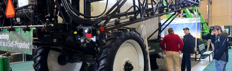 A multi-use sprayer is on display Thursday at the Spring Farm Show in London. (MORRIS LAMONT, The London Free Press)