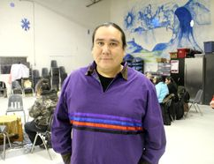Indigenous environmental activist Clayton Thomas Muller was at the NeChee Friendship Centre on Thursday evening, March 5, to give a speech to local environmentalists.