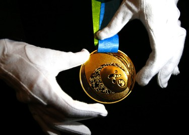 A look at the gold medal unveiling for the Toronto 2015 Pan An and Para Pan games at the Royal Ontario Museum on Tuesday, March 3, 2015. Michael Peake/Toronto Sun/QMI Agency