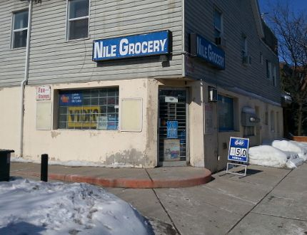 Nile Grocery - armed robber shoots at owner