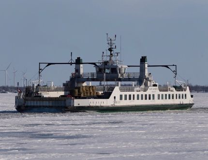 The Wolfe Island Ferry leaves from Kingston heading to Wolfe Island on Thursday, March 5, 2015. Elliot Ferguson/The Whig-Standard