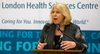 London North Centre MPP Deb Matthews announces nearly half a million dollars investment at LHSC to open a new pediatric chronic pain clinic in London. Mike Hensen/The London Free Press/QMI Agency