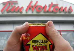 Tim Horton's Roll Up the Rim to Win contest coffee cup. (QMI Agency files)