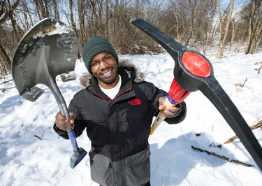 Elton McDonald the York University tunnel digger at the scene of his former tunnel  on Friday March 6, 2015. (Craig Robertson/Toronto Sun)