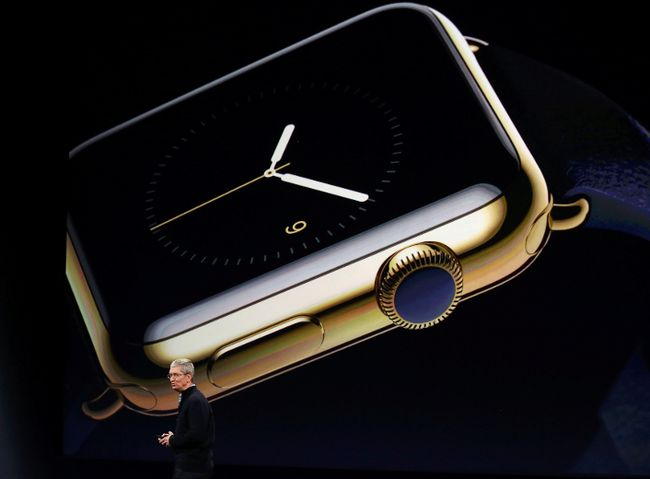 Apple CEO Tim Cook introduces the Apple Watch during an Apple event in San Francisco, March 9, 2015.  REUTERS/Robert Galbraith