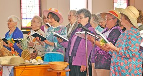 The 2015 World Day of Prayer was held last Friday, March 6 at the Knox Presbyterian Church in Mitchell. This year's focus was The Bahamas, and some of the participants included Beryl Ortelli (left), Anne Mulholland, Thelma Kudelka, Jean Sykes, Vicki Williamson and Jane Whittemore. KRISTINE JEAN/MITCHELL ADVOCATE