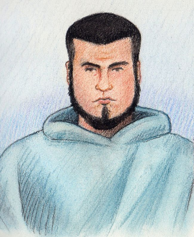 Carlos Larmond, 24, was beaten by a pair of inmates March 3 at the Innes Rd. jail. Police have obtained security video from the jail. Sketch by Laurie Foster-MacLeod/OTTAWA SUN/QMI AGENCY