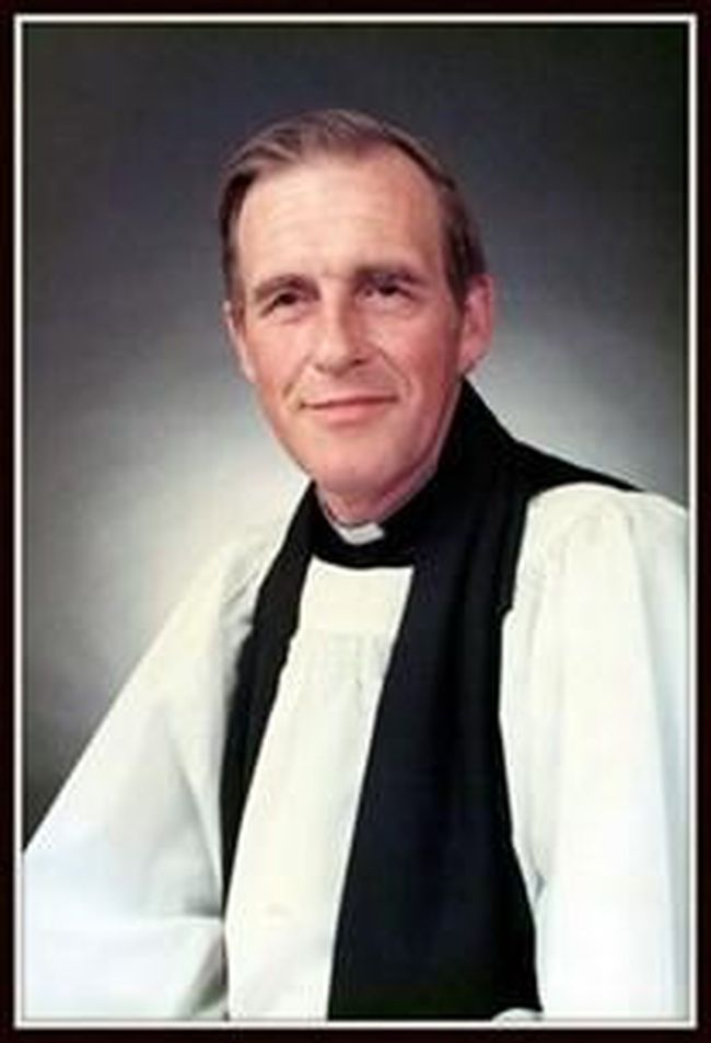Very Rev. Irvin Lawrence Robertson served at St. Luke's Cathedral in Sault Ste. Marie from 1975 until his retirement in 1992.