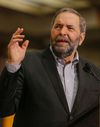 NDP Leader Thomas Mulcair addressed supporters in Toronto on Sunday. (DAVE THOMAS, Toronto Sun)