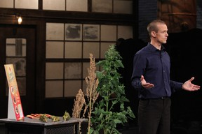 Submitted photo of Jamie Draves on the set of CBC Dragons' Den.
