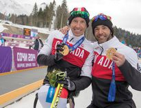 Canmorites Brian McKeever (right) and Chris Klebl are headed to PyeongChang in March to compete in the Paralympics.