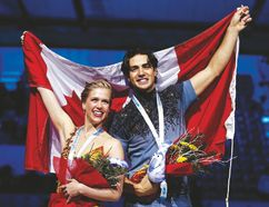 Canadian ice dancers Kaitlyn Weaver and Andrew Poje. (Reuters file)