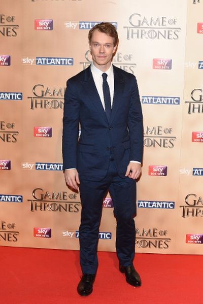 """'Game of Thrones' world premiere held at the Tower of London on March 18, 2015 featuring Alfie Allen. (Daniel Deme/<A HREF=""""http://www.wenn.com"""" TARGET=""""newwindow"""">WENN.COM</a>)"""