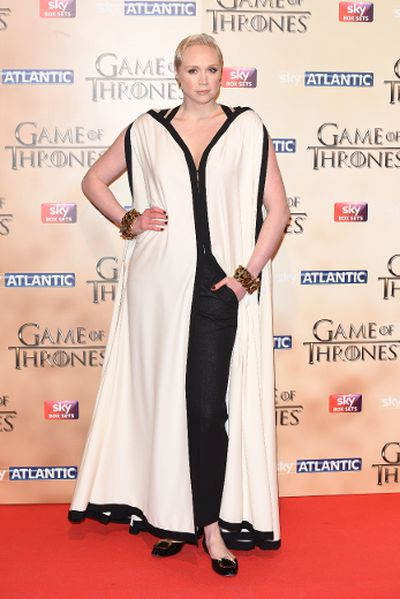 """'Game of Thrones' world premiere held at the Tower of London on March 18, 2015 featuring Gwendoline Christie. (Daniel Deme/<A HREF=""""http://www.wenn.com"""" TARGET=""""newwindow"""">WENN.COM</a>)"""