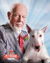 Don Cherry and dog Blue in a poster for Don Cherry's Pet Rescue Foundation. (Supplied photo)
