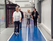 FILE PHOTO. High River residents walk at the Cargill Field House walking track.