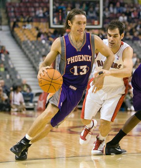 Steve Nash, seen here playing with the Phoenix Suns against the Toronto Raptors in 2010, announced his retirement from the NBA on Saturday, March 21, 2015. Stan Behal/Toronto Sun