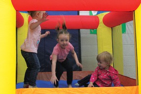 While moms and dads shopped around, children kept themselves busy at the bouncy house arranged at the second annual Easter Extravaganza.