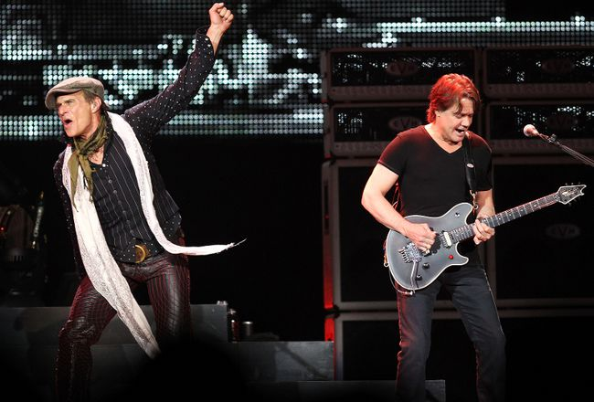 David Lee Roth, left, and Eddie Van Halen perform at Rexall Place in Edmonton.(QMI Agency file photo)