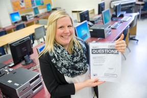 London?s Catholic Central secondary school was part of a pilot project to ditch the paper version of the EQAO standardized test in favour of an online version, says vice-principal Stephanie Circelli. (CRAIG GLOVER, The London Free Press)