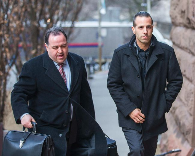 Alexander �Sandro� Lisi  (right) - with his lawyer arrives at the court at Old City Hall in Toronto, Ont.  on Wednesday March 25, 2015. Ernest Doroszuk/Toronto Sun/QMI Agency
