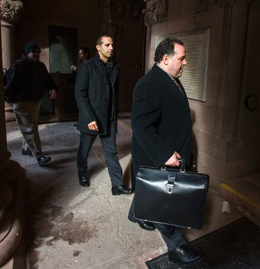 Alexander �Sandro� Lisi  (left) - with his lawyer arrives at the court at Old City Hall in Toronto, Ont.  on Wednesday March 25, 2015. Ernest Doroszuk/Toronto Sun/QMI Agency