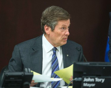Toronto mayor John Tory before the afternoon start of a  meeting of the executive committee at city hall in Toronto, Ont. on Wednesday March 25, 2015. Ernest Doroszuk/Toronto Sun/QMI Agency