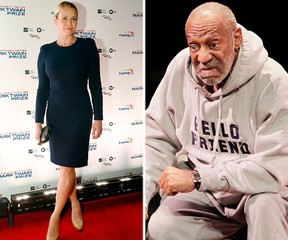 Chelsea Handler and Bill Cosby. (Reuters file photos)