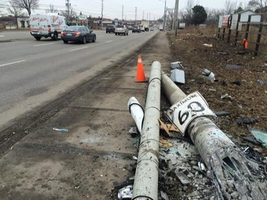 The driver was likely travelling more than 3x the posted speed limit of 60 km/hr, according to Peel Police. CHRIS DOUCETTE/Toronto Sun