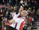 Skip Pat Simmons jumps into the arms of lead Nolan Thiessen after winning the Brier at the Scotiabank Saddledome in Calgary Sunday, March 8, 2015. (MIKE DREW/QMI AGENCY)
