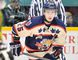 Barrie Colts forward Garrett Hooey keeps his eye on the play during an OHL game this season. (Terry Wilson/OHL Images)