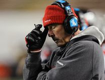 Calgary Stampeders coach John Hufnagel, seen during a game against the Edmonton Eskimos, wasn't happy with the answer given by a prospect during the CFL combine four years ago. But the Stamps still drafted the player. (REUTERS/Todd Korol)