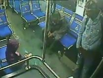 Security camera footage of a girl riding a bus in Philadelphia at 3 a.m. (Video screenshot)
