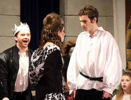 """Pembina area students entertained hundreds of attendees March 19-22 with their performance of """"Once Upon a Mattress"""" based on """"The Princess and the Pea"""". (ANDREW PRUDEN/Morden Times)"""