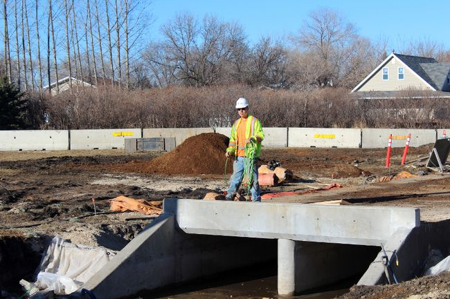 Construction near the corner of Hwy. 32 and Pembina Ave has been ongoing for some time. It could be the first step toward twinning the highway. (JOEL NICKEL/Winkler Times)