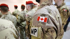 Canadian military personnel during a military police deployment at 8 Wing/CFB Trenton, Ont. Friday, March 6, 2015. JEROME LESSARD/QMI AGENCY
