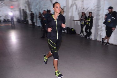 """On her go-to workout...""""Running is really how I stay in shape,"""" she says, noting she started running back in her competitive tennis days to bolster her endurance.""""I like to run on the beach. I like to run in New York in the summer when it's really hot. I live in the Financial District, so I run around Tribeca. But I run when I'm on the road, when I'm travelling, whichever city it may be and it's kind of a fun way to explore new places."""" (Stephen Lovekin/AFP)"""