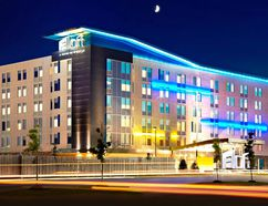 The Aloft Vaughan Mills hotel in the Greater Toronto Area has 131 loft-like guest rooms. (Handout)