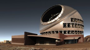 Side view rendition of the Thirty Meter Telescope. (Photo provided)
