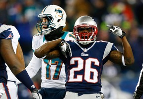 Will Allen, formerly of the New England Patriots, celebrates following a sack on December 30, 2012.  (Jared Wickerham/AFP)