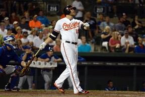 First baseman Chris Davis returned to the Orioles on Tuesday after he finished serving a 25-game suspension on Monday. (Tommy Gilligan/USA TODAY Sports/Files)