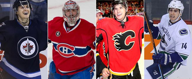The Winnipeg Jets, Montreal Canadiens, Calgary Flames and Vancouver Canucks have clinched a playoff spot this season. The Ottawa Senators could make it five Canadian teams in the postseason. (QMI Agency)