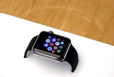 An Apple Watch can be seen after it went on display at the Sydney Apple store April 10, 2015.  REUTERS/David Gray