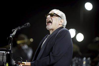 """Donald Fagen of the band """"Steely Dan"""" performs at the Coachella Valley Music and Arts Festival in Indio, California April 10, 2015. REUTERS/Lucy Nicholson"""