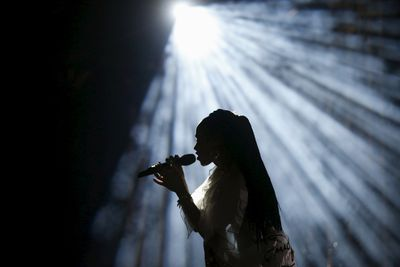 FKA twigs of Britain performs at the Coachella Valley Music and Arts Festival in Indio, California April 11, 2015. REUTERS/Lucy Nicholson