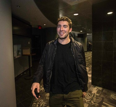 Joffrey Lupul arrives at ACC for locker clean out in Toronto on Monday April 13, 2015. Craig Robertson/Toronto Sun