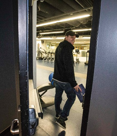 Phil Kessel walks into locker room at the ACC for locker clean out in Toronto on Monday April 13, 2015. Craig Robertson/Toronto Sun