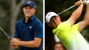 Jordan Spieth and Rory McIlroy. (REUTERS/Brian Snyder and REUTERS/Mark Blinch)