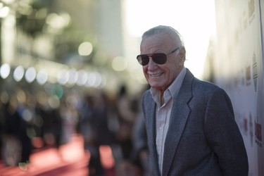 "Executive producer Stan Lee poses at the premiere of ""Avengers: Age of Ultron"" at Dolby theatre in Hollywood, California April 13, 2015. REUTERS/Mario Anzuoni"